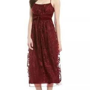 MSSP Red Lace Senorita Flamenco Spanish Dress New
